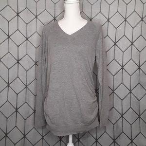 Motherhood Maternity Grey V-neck Sweater